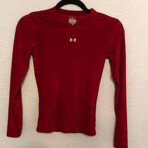 Under Armour Red Long Sleeve Top